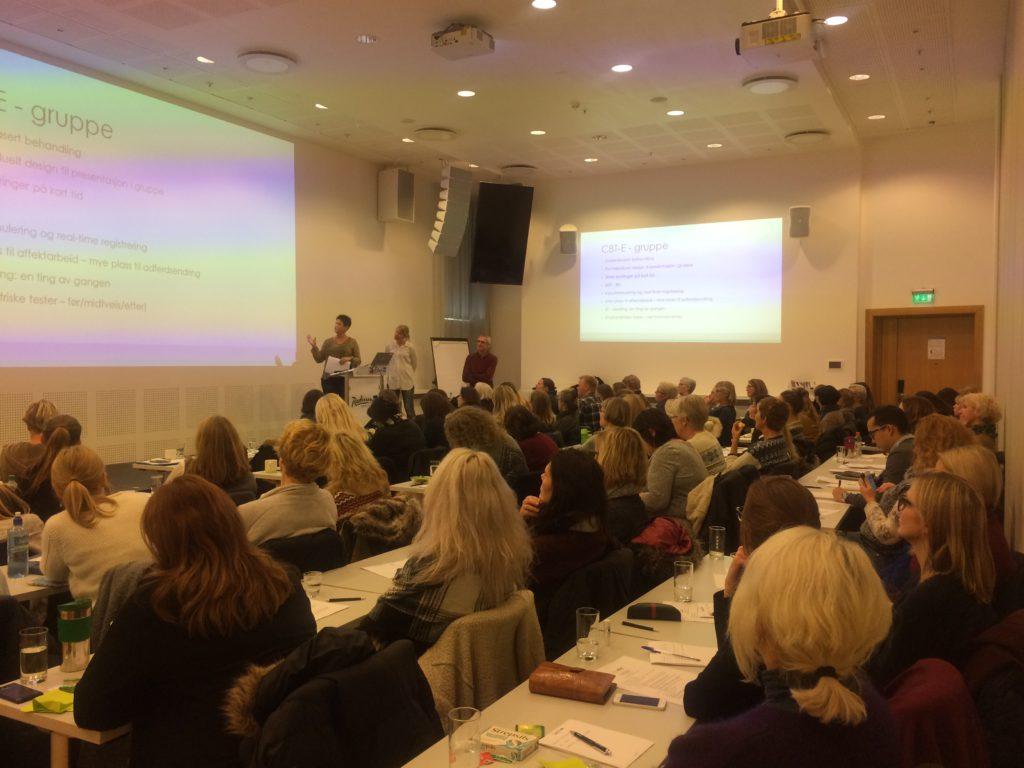 Fra presentasjonen til Kristin S Ueland og Silje Helen Moen, der erfaringer og praksis fra BED-behandling ved Sykehuset i Vestfold presenteres.